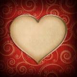 Walentynka dnia tło - kartka z pozdrowieniami szablon Fotografia Stock