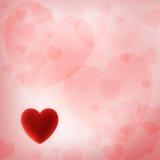 Walentynka dnia tło z czerwonym sercem Obrazy Royalty Free