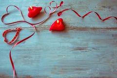 Walentynka dnia tło z rocznika sercem Obraz Royalty Free
