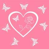 Walentynka dnia tło z sercami Fotografia Royalty Free