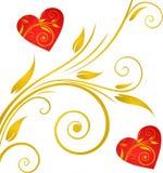 Walentynka dnia tło z sercami Obraz Royalty Free