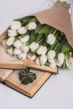 Walentynka dnia tulipany Obraz Royalty Free