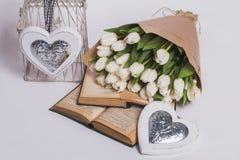 Walentynka dnia tulipany Zdjęcie Royalty Free
