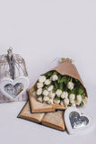 Walentynka dnia tulipany Obraz Stock