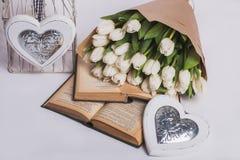 Walentynka dnia tulipany Zdjęcie Stock