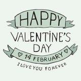 Walentynka dnia typ tekst Zdjęcia Royalty Free