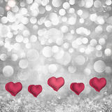 Walentynka dnia Wakacyjny tło Na Paloma Popielatym & Zdjęcia Royalty Free