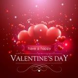 Walentynka dnia wiadomość Obraz Stock