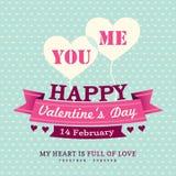 Walentynka dnia zaproszenia karcianego projekta szablonu ziobro Fotografia Stock