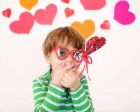 Walentynka dzień: Dzieciak zabawa obraz stock