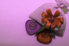Walentynka dzień, handmade produkty od filc obrazy royalty free