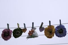 Walentynka dzień, handmade produkty od filc fotografia stock