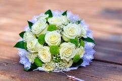 Walentynka dzień lub ślubny bukiet Tło z kwiatem Fotografia Stock