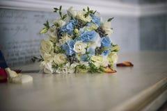 Walentynka dzień lub ślubny bukiet Tło z kwiatem Zdjęcia Royalty Free