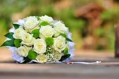 Walentynka dzień lub ślubny bukiet Tło z kwiatem Obrazy Royalty Free