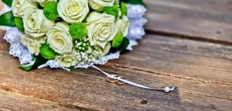 Walentynka dzień lub ślubny bukiet Tło z kwiatem Zdjęcia Stock
