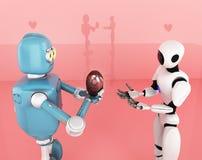 Walentynka dzień, miłość, robot, 3d odpłaca się ilustracja wektor
