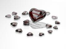 Walentynka dzień - serce szkło Obrazy Royalty Free