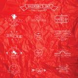 Walentynka dzień - set odznaki Obrazy Royalty Free