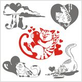 Walentynka dzień - wektoru set ilustracji