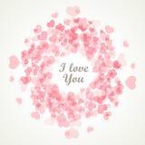 Walentynka dzień kocha ciebie - retro karta - Zdjęcie Stock
