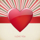 Walentynka dzień kocham ciebie retro plakat Obrazy Royalty Free
