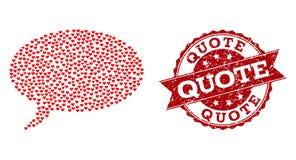 Walentynka Kierowy skład wiadomości chmury ikona i Grunge Watermark ilustracja wektor
