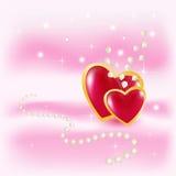 Walentynka na różowym tle Obrazy Royalty Free
