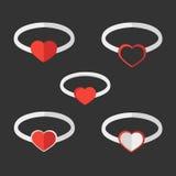Walentynka pierścionki Obrazy Stock