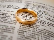 Walentynka pierścionek Zdjęcia Stock