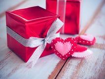 Walentynka prezenta pudełko Zdjęcia Royalty Free