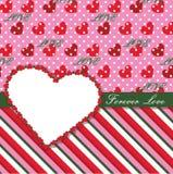 Walentynka projekta szablon z sercami, polki kropka  Ilustracja Wektor