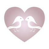 Walentynka ptaki Zdjęcia Royalty Free