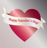 Walentynka sztandar obrazy royalty free