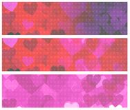 Walentynka sztandary ilustracja wektor