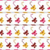 Walentynka wektorowy bezszwowy wzór glansowani łęki Fotografia Stock