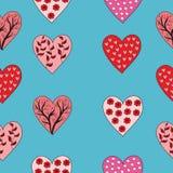 Walentynka wzór na błękitnym tle Obraz Royalty Free