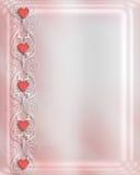 walentynka zaproszenia na ślub Obraz Royalty Free