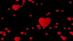 Walentynki abstrakcjonistyczny tło, latający serca Alfa kanał ilustracji