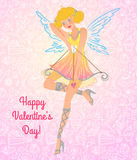 Walentynki anioła dziewczyna Zdjęcie Royalty Free
