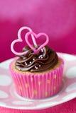 Walentynki babeczka zdjęcia stock