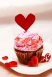 Walentynki babeczka fotografia stock