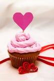 Walentynki babeczka zdjęcia royalty free