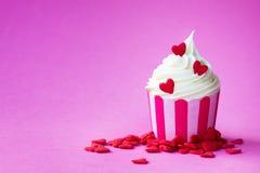 Walentynki babeczka zdjęcie stock