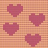 Walentynki beadwork projekt royalty ilustracja