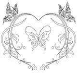 Walentynki czarny i biały kolorystyka, czarny i biały mandala, Fotografia Royalty Free