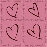 Walentynki Daya karta Zdjęcia Royalty Free