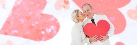 Walentynki dobierają się mienia kierowego i kochają serca tło Fotografia Stock