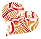 Walentynki doodle serca Fotografia Royalty Free
