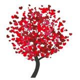 Walentynki drzewne Obrazy Royalty Free